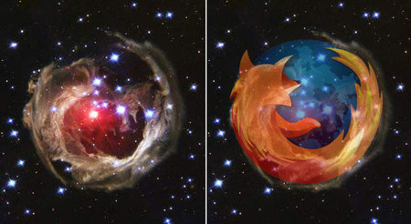 Firefox-logo löytynyt avaruudesta