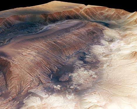 Uudet 3d-kuvat näyttävät Mars-planeetan massiivisen vuoriston