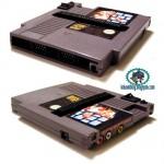 NES konsoli modattu NES pelimodulin sisälle