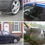 Erikoisia autojen varkaanestokeinoja