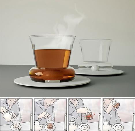 Self-stirring cup antaa kyytiä lusikalle