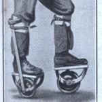 Mies vaihtoi puujalat yksipyöräisiin rullaluistimiin