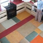 Ylijäämä -linoleumi-paloista tyylikäs lattia