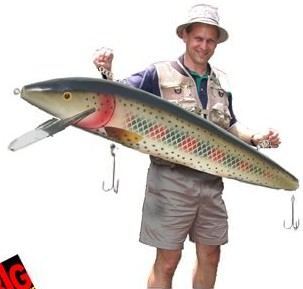 Puolitoistametrinen viehe todella isojen kalojen nappaamiseksi