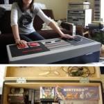 NES – peliohjain – pöytä – laatikko