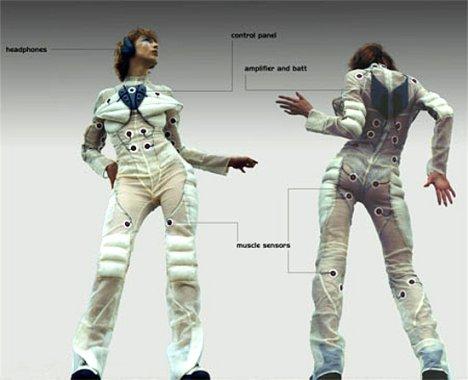 Pacer Suit muuntaa liikkeet musiikiksi