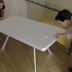 Pong-ruokapöytä