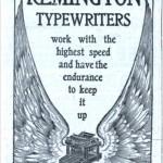 Remington -kirjoituskonemainos vuodelta 1902