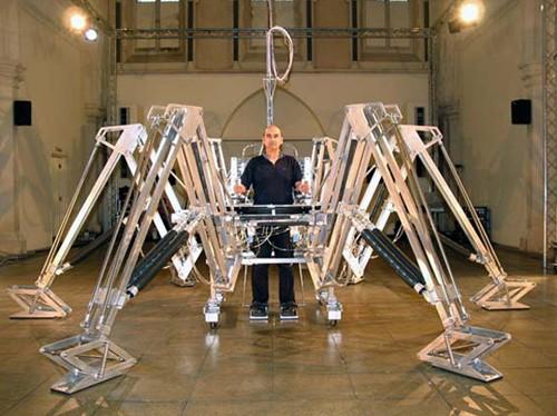 Kahdeksanjalkaisella kävelijärobotilla liikkuvalle kaverille ei ryppyillä!