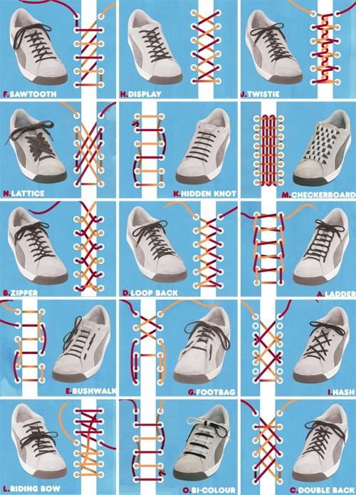 15 eri tapaa pujottaa kengännauhat – Hilavitkutin.com