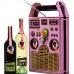 Afro Coffee Wine Box radio -viinipakkauksen radio oikeasti toimii