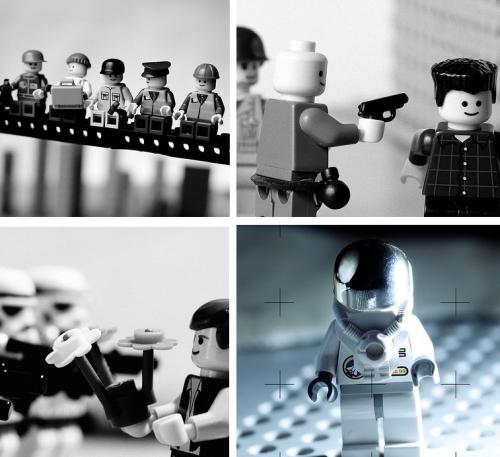 Kuuluisia uutiskuvia LEGO-versiona