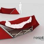 Respite on riippumatoksi muuntuva teltta