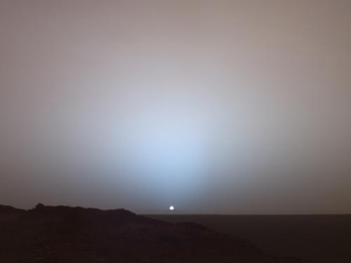 Auringonlasku Marsissa 19.5.2008