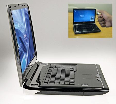 Toshiba Qosmio G55 -kannettavassa on SpursEngine joka tunnistaa käden liikkeet