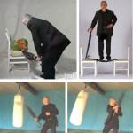 Unbreakable Walking-Stick Umbrella pistää hyökkääjät poikki ja pinoon