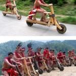 Puisia potkupyöriä Filippiineillä ja Afrikassa