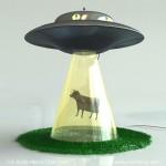The Abduction Lamp lainaa muotokielensä UFO-abduktioista