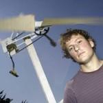 Opiskelija rakensi tuuliturbiinin 25 eurolla tarkoituksena auttaa kehitysmaita