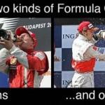Kahdenlaisia Formula 1 -kuskeja