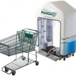 PureCart desinfioi ostoskärryt edellisten asiakkaiden bakteereilta