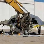 Legendaarisen F-117A Nighthawk hävittäjän koruton romutus