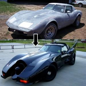Vuoden 1978 Corvette muunnettuna Batmobile-autoksi