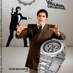Swatch 007 Villain Collection tuo Bondin arkkiviholliset kellokeräilijän ranteeseen
