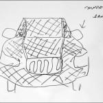 Luonnoslehtiöön piirretty katumaasturi pysäytti naisen tulliin Yhdysvaltojen rajalle teollisuusvakoilusta epäiltynä