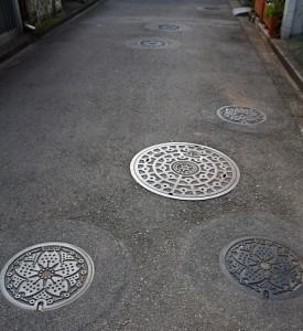 Maailman tiheiten viemärikaivotettu katu on Tokiossa 2