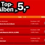 Saksalainen elektroniikkakauppa aloitti MP3-albumien myynnin viiden euron kappalehintaan