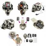 Päivän turhake: Pääkallovyönsolki LCD-näytöllä ja MP3-soittimella