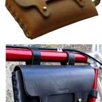 Bike Frame Bag on tyylikäs nahkainen pyörälaukku