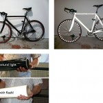 Bright Bike: retroreflektiivisellä viyylillä päällystetty pyörä loistaa valossa
