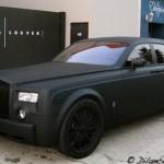 Mattamusta Rolls Royce Phantom on vaikuttava