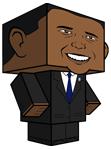 Obama paperinukke