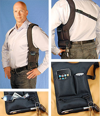 e-Volve Gadget Shoulder Holster on agentin laitekotelo