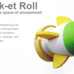 Rock-et Roll on skumppapullon korkkiin liitettävä raketti