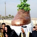 Bushia kengällä heittänyt irakilaisreportteri sai patsaan
