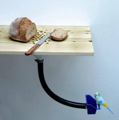 Leikkuulauta, josta muruset menevät suoraan linnuille, tee-se-itse 3