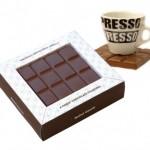 Chocolate Square Coasters, feikkisuklaakupinaluset