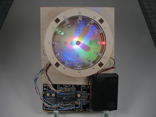 "A Bulbdial Clock on led-""aurinkokello"" 1"