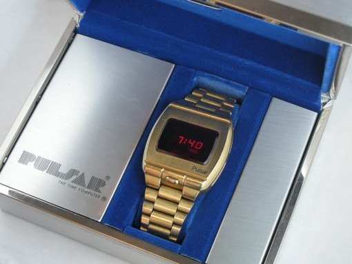 Myynnissä: Pulsar P1 Prototype LED Digital watch 18k