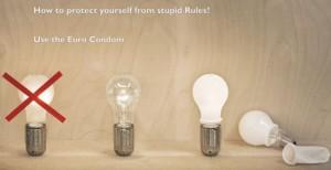 Ingo Maurer: Euro Condom, hehkulamppuspärdäri 2