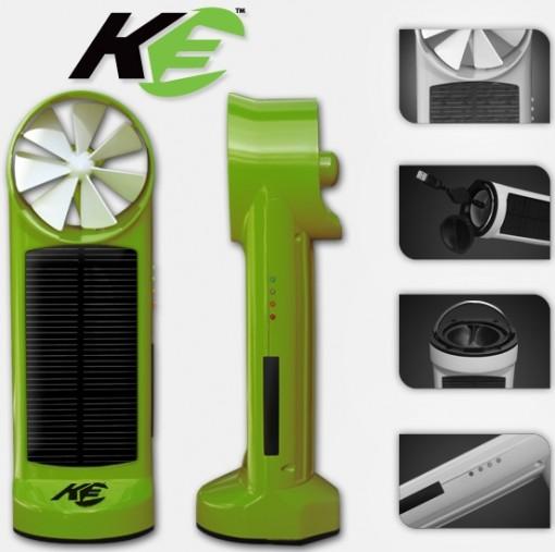Kinesis K3 on taskukokinen aurinkokenno- ja tuulitubiini-laturi