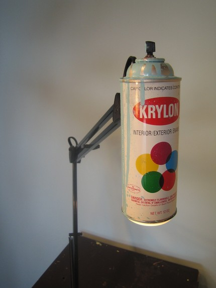 Krylon Spray Paint Lamp - Light Blue on upea! 1