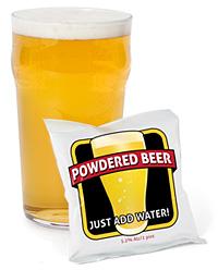 Powdered Beer, pakastekuivattua puuteriolutta 1