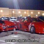 Kaksi Ferraria ja yksi parkkipaikka on kallis yhtälö