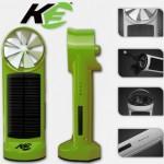 Kinesis Industries K3 on taskukokoinen aurinkokenno- ja tuuliturbiini-laturi
