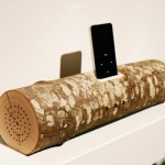 Wood log iPod Speaker on pölkkykaiutin